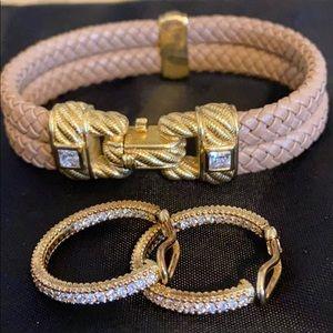 Judith Ripka Bracelet and Earrings Set. NWOT